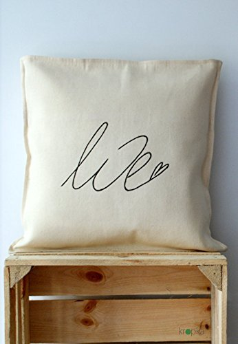 Love Pillowcase, Pillow Cover monnogrammed, Wedding gift pillowcase, Valentines Day pillowcase, Pillowcase for love, Pillow Cover letter, Pillowcase for couple, - Collection Coach Ashley