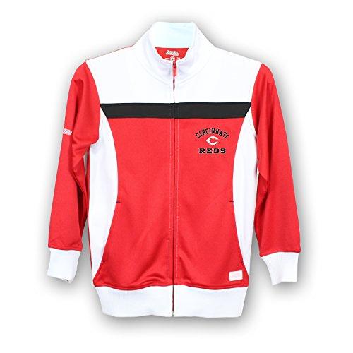 Stitches MLB Cincinnati Reds Girls Fashion Track Jacket, X-Large, Red/White (Red Cincinnati Reds Jacket)