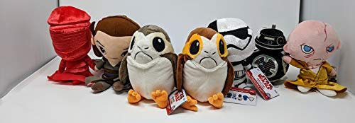 Star Wars The Last Jedi Galactic Plushies Set of 7 Plush with Female and Male PORG Plush Figure