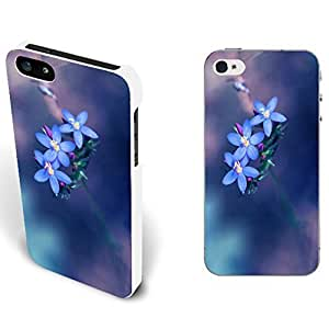 Floral Series Fashion Pretty Flowers Print Cover Case For Ipod Touch 4 Cover Durable Hard Plastic Back Phone Case Skin (pastel blue flowers)