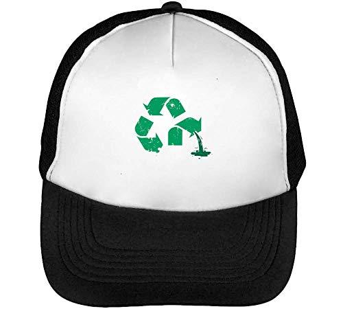 Blanco Waste Recycle Beisbol Hombre Gorras Snapback Negro wTdYqTB
