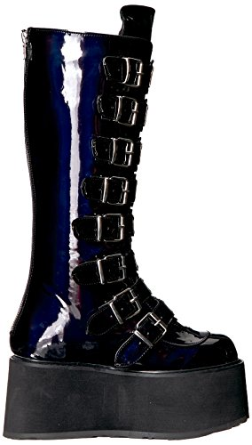 Leather Demonia Blk 318 Hologram Vegan DAMNED F77gwqO