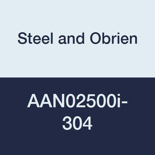 Steel and Obrien AAN02500i-304 Stainless Steel 14RMP Recessless Ferrule 2-1//2 x 1-3//8 OAL