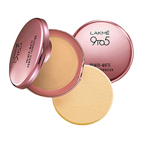 Lakmé 9 To 5 Primer + Matte Powder Foundation Compact, Ivory Cream, For Long Lasting Coverage, Concelas Fine Lines And…