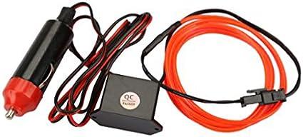 Rojo VORCOOL Tubo LED Hilo flexible El Wire con cable interruptor de potencia y Driver Decoraci/ón Coche Fai Da Te