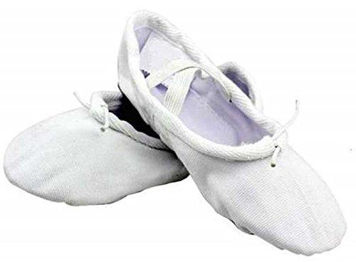 Gymnastik-/Yoga Leinwand Ballerina Schuhe Childrens & Adulterhältlich Weiß