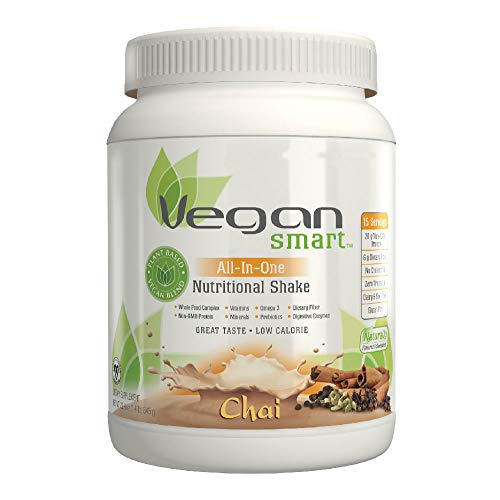 Vegansmart Plant Based Vegan Protein Powder by Naturade, All-In-One Nutritional Shake - Chai 22.75 oz