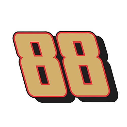 Dale Earnhardt Jr OriginalStickers0221 Set Of Two (2x) Stickers , Laptop , Ipad , Car , Truck , Size 4 inches on Longer Side ()