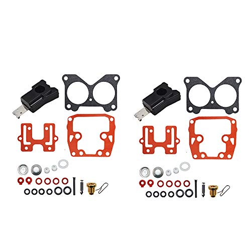 labwork 2 PCs for Johnson Evinrude Carb Carburetor Repair Kit 439076 Crossflow V4 V6 (V6 Repair)