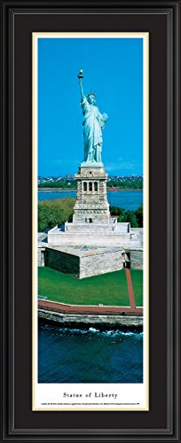 Picture Frame Nhl Horizontal (Statue Of Liberty - Blakeway Panoramas Icon Posters with Deluxe Frame)