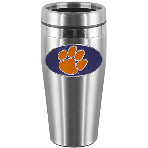 NCAA Clemson Tigers Steel Travel Mug, Steel, 14 oz