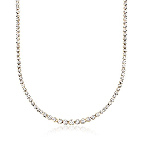 Ross-Simons 2.50 ct. t.w. Graduated Diamond Tennis Necklace in 14kt Yellow Gold