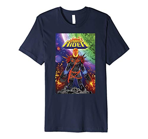 Rider Ghost - Marvel Cosmic Ghost Rider Comic Cover Premium T-Shirt