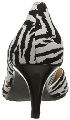 J.Renee Womens Veeva Dress Pump Black/White 5IICrdH