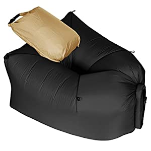 LayBag Rocca - Inflatable Air Lounge Chair - Ultra lightweight and Super Strong Ripstop Nylon Air Chair - Easily Inflatable and Extremely Comfortable Outdoor Seat for Camping, Hiking, and Traveling