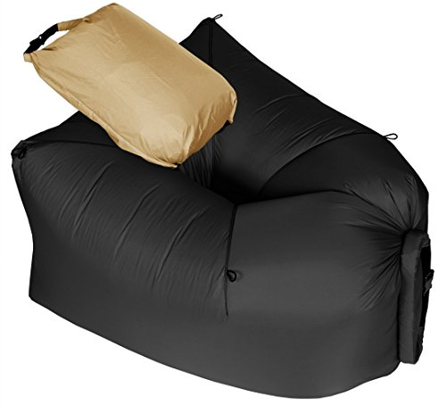 LayBag Rocca - Inflatable Air Lounge Chair - Ultra lightweight and Super Strong Ripstop Nylon Air Chair - Easily Inflatable and Extremely Comfortable Outdoor Seat for Camping, Hiking, and - Coupon Uk Queen