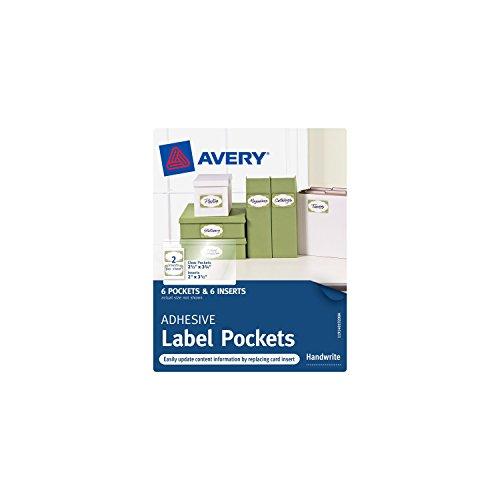 Avery Adhesive Pockets Inches 40192
