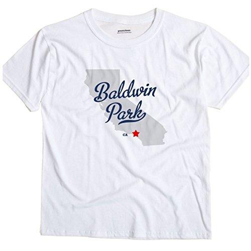 Baldwin Park California CA MAP GreatCitees Unisex Souvenir T Shirt
