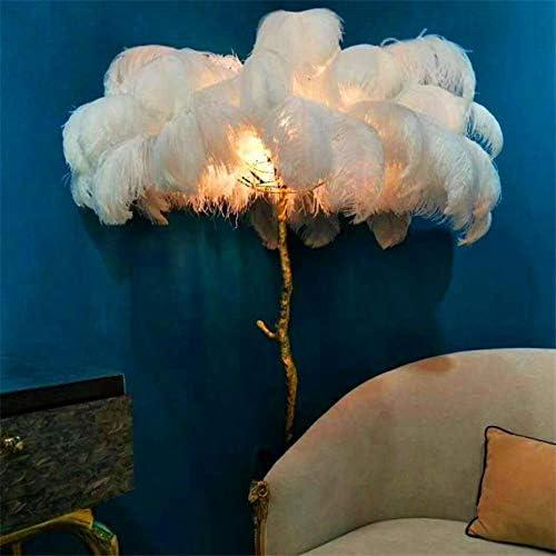 Modern Ostrich Hair LED Floor Lamps Hotel Living Room Led Ostrich Hair Floor Light Standing Lamp Lampadaire De Salon Lighting,Orange,H 180cm resin