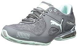 PUMA Women's Cell Riaze W Heather Training Sneaker, Steel Gray/Drizzle/Bay, 7.5 B US