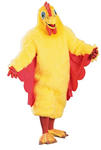UHC Fuzzy Chicken Jumpsuit Funny Comical Theme Party Halloween Costume