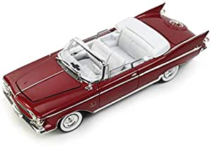 Lucky Toys 1/18 1961 Chrysler Imperial Crown with Removable Top Plum diecast model