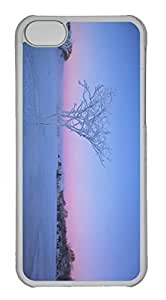 Customized iphone 5C PC Transparent Case - Snow Tree Cover