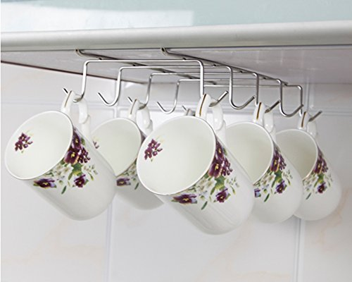 Mkono Under Cabinet Stainless Steel Mug Cup Holder Drying Rack ...