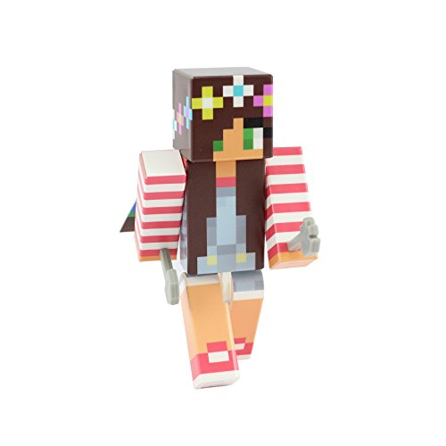 [Overalls Girl Action Figure Toy, 4 Inch Custom Series Figurines by EnderToys] (Ghast Minecraft Costume)