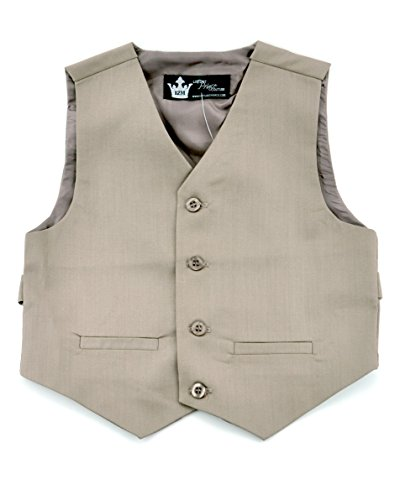 Littlest Prince Couture Infant/Toddler/Boys Tan Suit Vest (Boys Tan Suits)