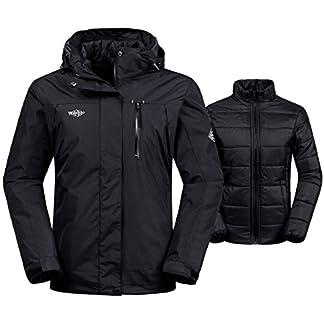 29fd91cb2c2 Wantdo Women s 3-in-1 Waterproof Ski Jacket Interchange Windproof Puffer  Liner Warm Winter Coat Insulated Short Parka