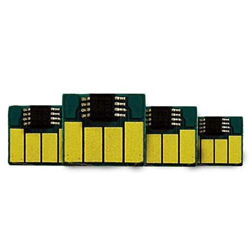 INKUTEN 4 Replacement Chips for EPSON 220, T220XL One Time Chips Compatible With Epson Expression XP-320, Expression XP-420, Expression XP-424, WorkForce WF-2630, WorkForce WF-2650, WorkForce WF-2660 Printers