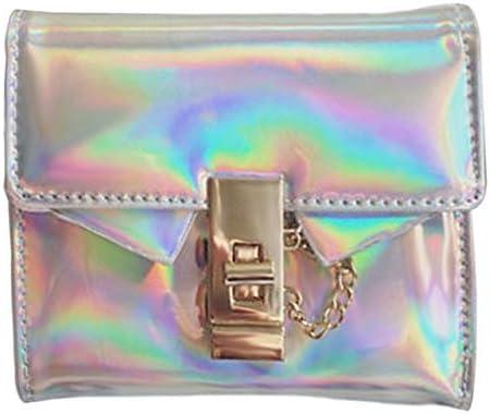 TEXU Women Hot Hologram Handbag Laser-Coin Purse Wallet Card Holder Bag Color: Silver Gimax Coin Purses
