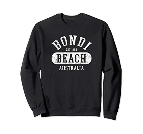 Vintage College Style Bondi Beach Australia Graphic Design Sweatshirt