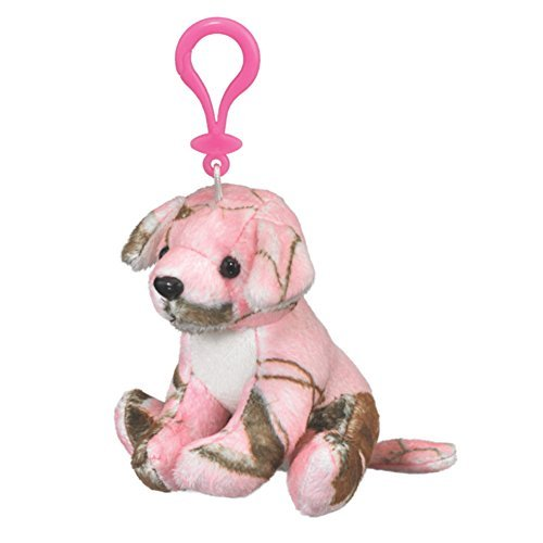 656526847f58 Realtree Camo Wild Pink Labrador Dog Stuffed Plush Backpack Keychain Clip  4.5