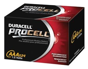 Duracell Procell AAA 24 Pack PC2400BKD09 - 20 User Lab Pack