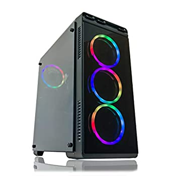 Image of Gaming PC Desktop Computer by Alarco Intel i5 3.10GHz,8GB Ram,1TB Hard Drive,Windows 10 Pro,WiFi Ready, Video Card Nvidia GTX 650 1GB, 4 RGB Fans. Pre-Built and Ready for Gaming, Plug and Play. Towers