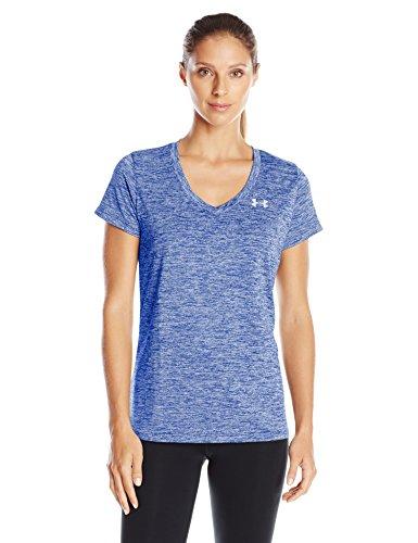 Under Armour Women's Tech V-Neck Twist T-Shirt, Cobalt (420)/Metallic Silver, ()