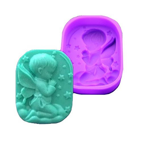 Angel Cherub Boy Praying Silicone Soap Mold also for Fondant, Gum Paste and Chocolate