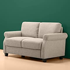 The Sinus traditional upholstered Loveseat is the perfect cozy spot for movie night, or game night or curl-up-with-a-great-book night. With multiple layers of cushioning, you can relax in its soft supportive embrace. You can also relax becaus...