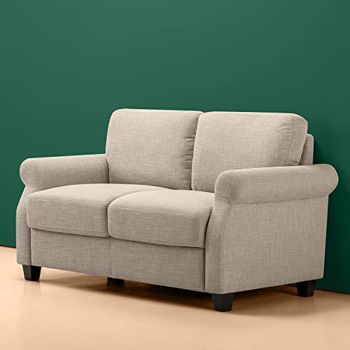 Amazon Com Zinus Josh Traditional Upholstered 56in Sofa