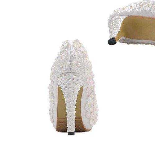 GTVERNH-Sposa Damigella D'Onore Banchetto Matrimonio A Piattaforma 11.5Cm Super Tallone Il Matrimonio La Principessa Di Scarpe Scarpe Di Matrimonio 36