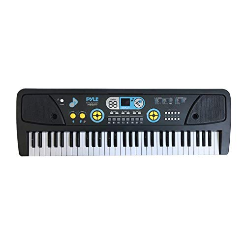 Digital Musical Karaoke Keyboard – Portable Electronic Piano Keyboard with Built-in Rechargeable Battery & Wired Microphone (61 Keys)