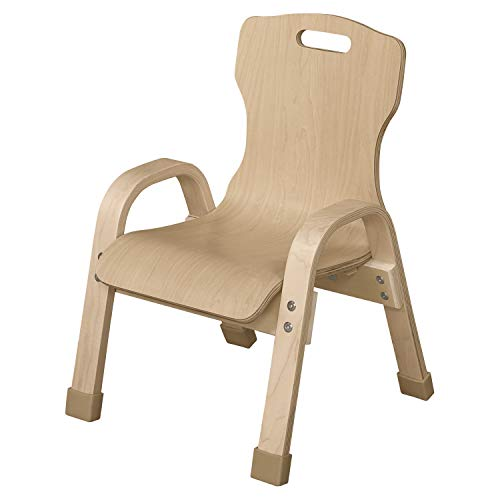 Wood Designs 90801 Stacking Bentwood Plywood Chair, 8