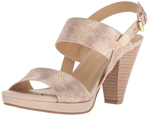 CL by Chinese Laundry Women's Worthy Heeled Sandal, Rose Gold, 8.5 M (Laundry Open Toe Heels)