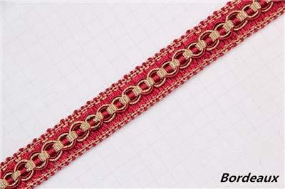 Bordeaux Lamp - Lace Crafts - 12Yards/Lot 2cm Wide Curtain Lace Trim Lamp Sofa Edge Decor Tapestry Braid Curtain Accessories Tassel Fringe Ribbon DIY - (Color: Bordeaux)