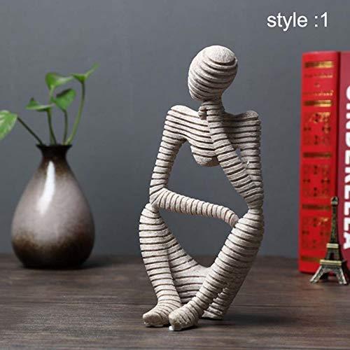 Symboat Statues Escultura Ornamentos Decorativos de Figure Abstracta de gres para el Escritorio de salon