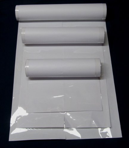 15 Yards Brodart Fold-On Archival Book Jacket Covers LARGE Roll Combo - 10, 12 & (Archival Polyester Sheet Protectors)