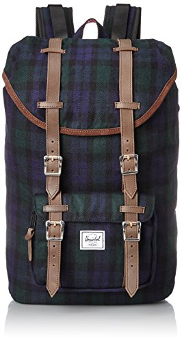 Herschel Supply Co. Little America Mid-Volume Select, Black Watch Plaid, One Size