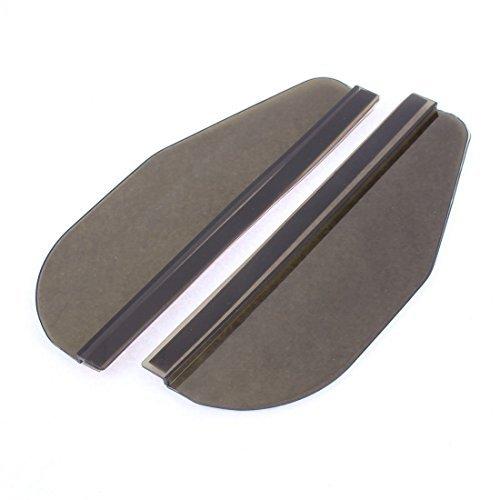 DealMux 2 Pcs plástico preto macio espelho retrovisor Rainproof lâmina para Auto